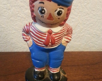 Ceramic Raggedy Andy Figuirne - 3 3/4 inches tall