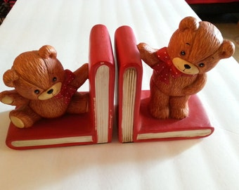 Ceramic Teddy Bear Bookends