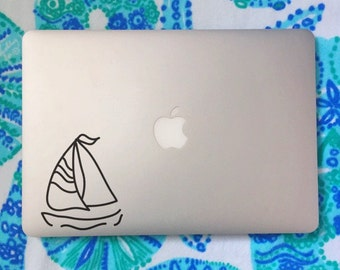 Sailboat, Laptop Stickers, Laptop Decal, Macbook Decal, Car Decal, Vinyl Decal