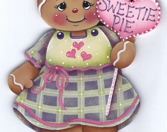 Sweetie Pie Gingerbread  Painting E-Pattern