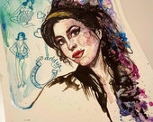 Amy Winehouse A4 art print  - Limited Edition