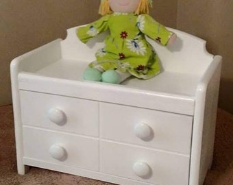 "18"" Doll- changing table with drawer"
