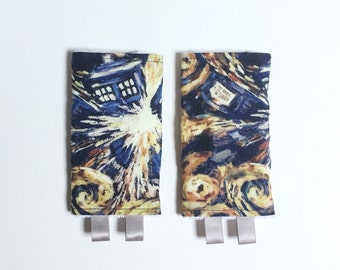 Doctor Who Exploding Tardis Drool Pads// Tula, Ergo, Lillebaby fits most major carriers