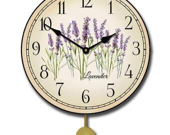 Lavender Pendulum Clock