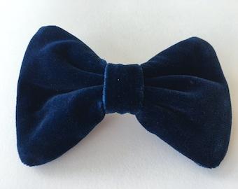 Blue Velvet Hair Bow