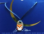 Fox Pebble Necklace - Hand Painted Stone