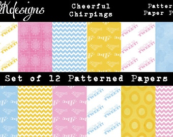 Cheerful Chirpings Digital Paper Pack
