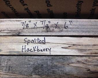 8 Spalted Hackberry Pen Blanks, Eight Wooden Pen Blanks, Hackberry Pen Blanks, Wood Turning Blanks