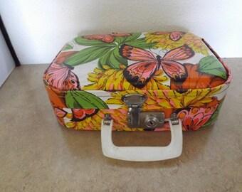 Retro Flower Power Small Vanity Suitcase