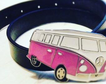 Belt Buckle ~ Women's Belt ~ Leather Belt ~ Black Leather Belt ~ Ladies Belt ~ Volkswagen Accessories ~ VW Belt ~ womens Accessories ~ Birth