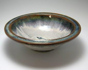 Ceramic Serving Bowl, Salad Bowl, Large Bowl, Sedona Browm Glaze 80 oz