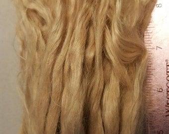 On sale blond Suri Locks 9-10 inches medium fawn blond Felting Doll Wigs