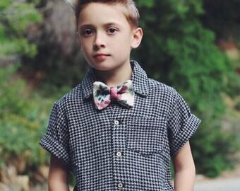 Boys Collared Shirt/Vintage Shirt/Harringbone shirt/Short Sleeve/Urban/Stylish