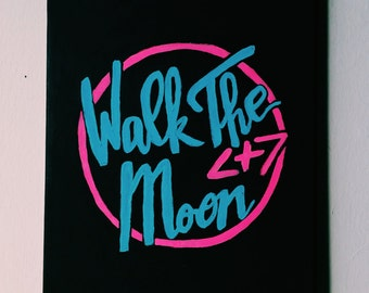 Walk The Moon Logo Canvas Painting