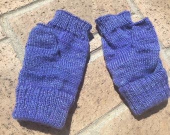 Hand-cranked Knitted Fingerless Mitts