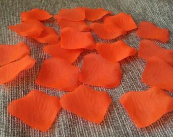 Orange Petals Silk Rose Dark Orange Flower Petals 1000 For Flower Girls Basket Wedding Party Decor Aisle Decoration