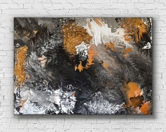 Abstract painting abstract art abstract wall art canvas painting monochrome