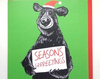 Seasons Grrreetings Christmas card