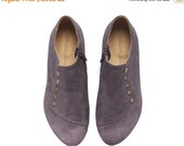 September sale Purple handmade  leather  flat shoes / Grace best seller by Tamar Shalem