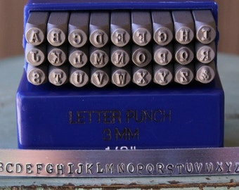 3mm Typewriter Font Individual Metal Letter Stamp (not a set) - Uppercase Metal Stamp - Metal And Jewelry Design Work - SGE-3U