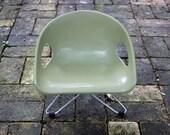Vintage Green Cosco Booster Seat Plastic Seat Eames Era