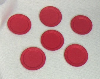 "Dollhouse Miniature 1"" Red Paper Plates"
