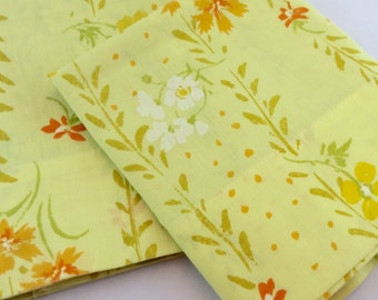 Vintage Yellow Flowered Pillowcases