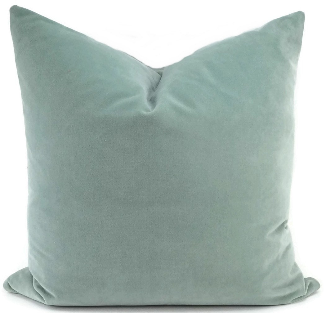 Aqua Velvet Pillow Cover Aqua Velvet Throw Pillow Cover