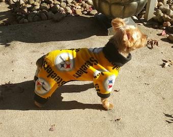 Pittsburgh Steeler Dog Fleece Pajamas