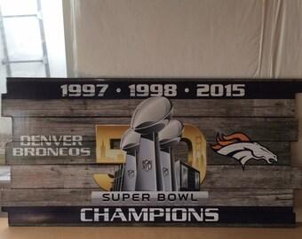 Denver Broncos Wall Decor broncos wall art | etsy