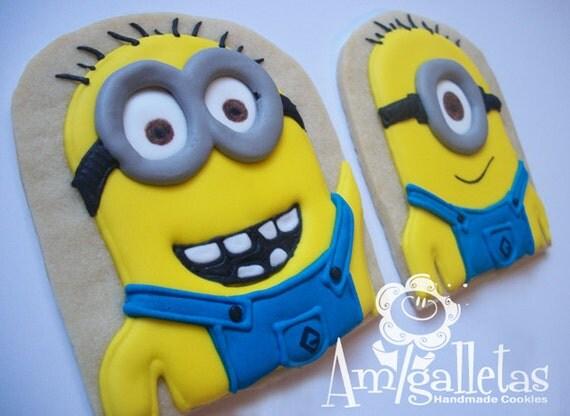 Minions Cookies - 1 dozen
