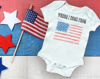 American Flag shirt / American Flag onesie / Baby Onesie / Baby Clothes / America Shirt