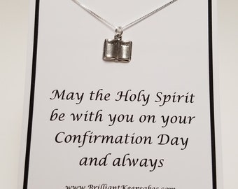 Confirmation Gift Necklace Sterling Silver Bible
