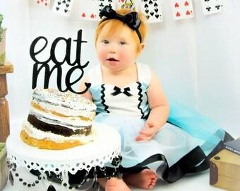 Eat Me glitter Cake Topper