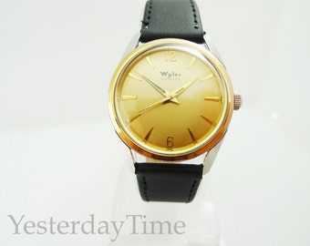 Wyler Incaflex 1960's Stainless Steel 17 Jewel Swiss Gents Manual Watch