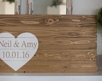 Wrap-around heart event decoration, signage
