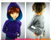 Sale 25% Off BJD MSD 1/4 Doll Clothing - Design Your Own Pullover Hoodie - 12 Colors