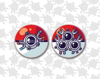 First Generation Steel pokémon 38mm buttons
