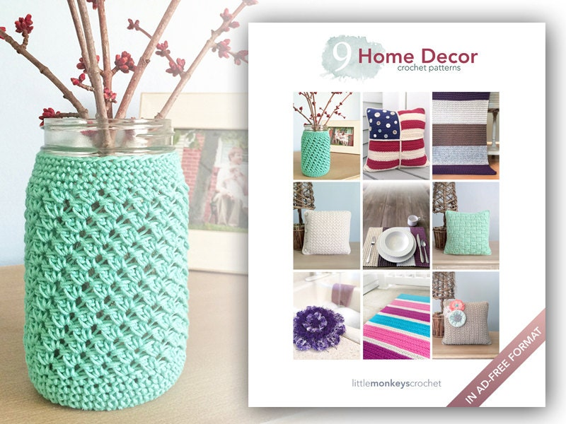 Home Decor Crochet Patterns 9 Pattern E Book By Little