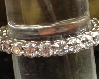 14k white gold eternity band 1.80 carats size 6,