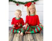Embroidered Unisex Baby/ Child Christmas Pajamas, Personalized PJ's