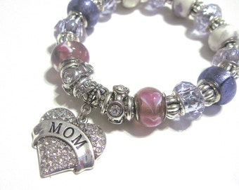 """MOM Bracelet """" My heart is filled with Love for you """""""