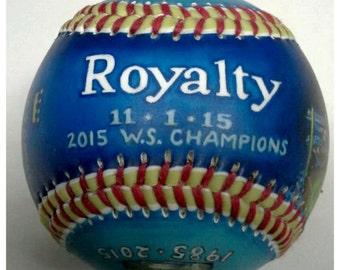 Kansas City 2015 World Series Baseball, KC Royals gift, KC Royals Fan, World Series 2015 (GM13)