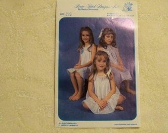 Briar Patch Designs By Becky Summers - Machine French Sewn Slip - Size 5 - 8  - Uncut Pattern