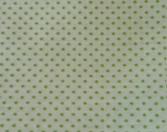 Vintage Green on Green Swiss Dot Fat Quarter