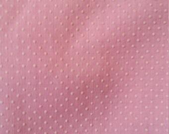 Vintage White on Pink Swiss Dot Fat Quarter