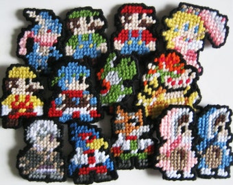 Nintendo 8-Bit Yarn Patch (Choose from a variety of Characters!)