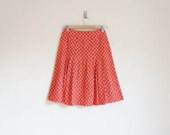 Vintage Summer Skirt / Vintage Red Skirt