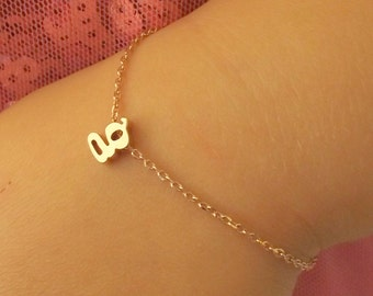Silver, rose gold or gold children's initial bracelet,flower girl gift, children's personalized bracelet, kids jewelry, kids christmas gift