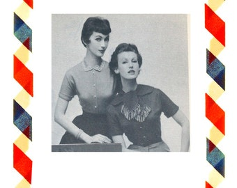 Vintage Sewing Pattern in any size including plus size 1949 PDF Instant Download Pattern no 46+47